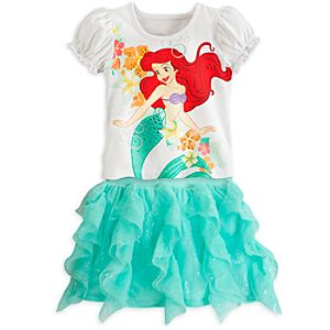Ariel Tee and Skort Set for Girls