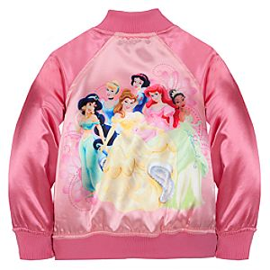 Personalizable Disney Princess Varsity Jacket for Girls