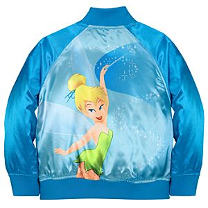 Personalizable Tinker Bell Varsity Jacket for Girls