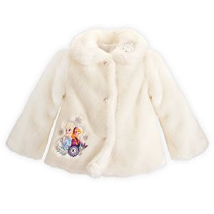 Anna and Elsa Deluxe Faux Fur Coat - Frozen
