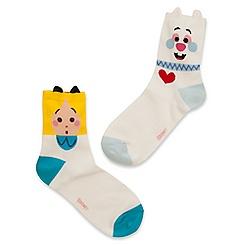 Alice and White Rabbit Socks for Women