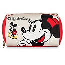 Mickey and Minnie Mouse Zip Canvas Pouch