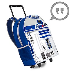 R2-D2 Talking Light-Up Rolling Backpack - Personalizable