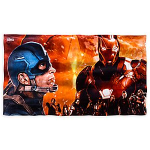 Captain America: Civil War Beach Towel - Personalizable