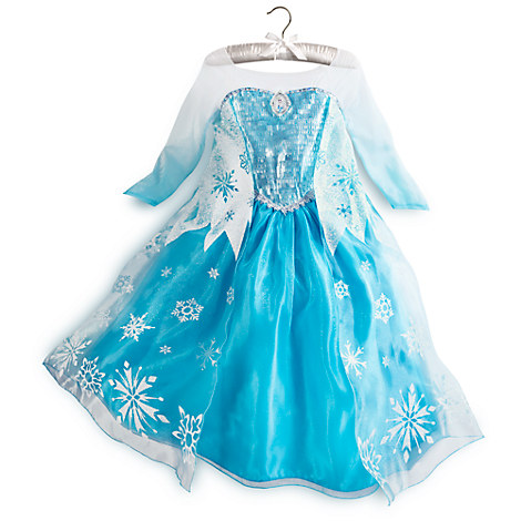 DISNEY STORE COSTUME ELSA FROZEN PRINCESS GRL DRESS GOWN 5/6 SHOES ...