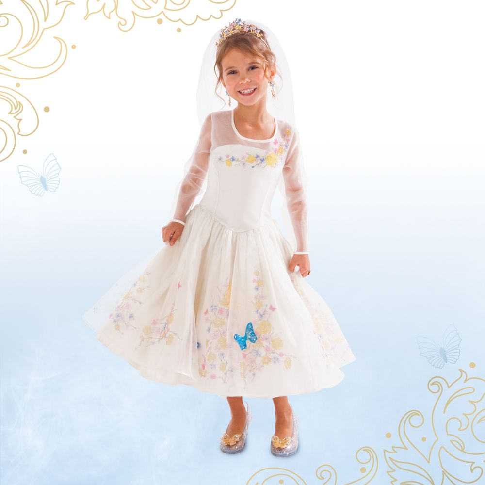 Disney Store Deluxe Cinderella Costume For Baby Toddler 2t: CINDERELLA~Wedding COSTUME~DRESS ONLY~5/6 7/8 9/10~Live