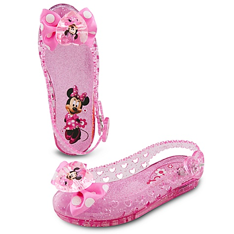 Disney Store Minnie Mouse Light Up Shoes Girls Sz 5 6