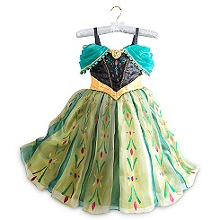 Anna Deluxe Coronation Costume For Kids