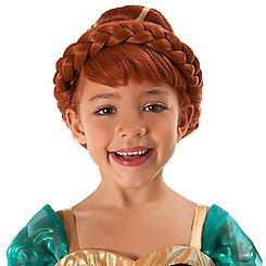Anna Costume Wig for Kids - Frozen