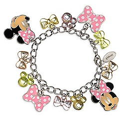 Minnie Mouse Bow Charm Bracelet