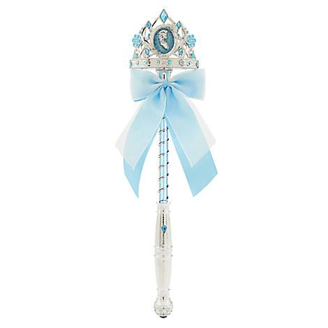 Disney Store Queen Elsa Frozen Light Up Jewel Wand