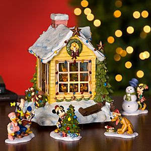 Home for the Holidays Mickey Mouse Snowglobe and 4-Pc. Figurine Set