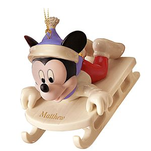 Personalized Sledding Adventure Mickey Mouse Ornament by Lenox