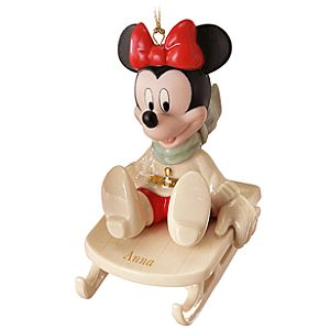 Personalized Sledding Adventure Minnie Mouse Ornament by Lenox