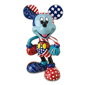 Stars and Stripes Mickey Mouse Figurine by Britto -- 4 H