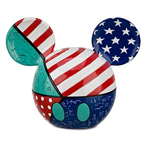 Stars and Stripes Mickey Mouse Ears Keepsake Box by Britto