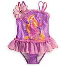 Rapunzel Deluxe Swimsuit for Girls