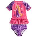 Rapunzel Deluxe Rash Guard Set for Girls