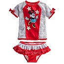 Minnie Mouse Deluxe Rash Guard Swim Set for Girls