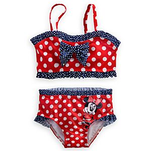 Minnie Mouse Red Swimsuit for Girls - 2-Piece