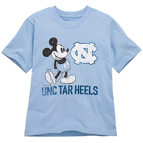 University of north carolina mickey mouse tee for kids for University of north carolina t shirts
