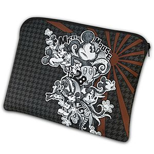 Urban Gear Reversible Houndstooth Mickey Mouse Laptop Sleeve