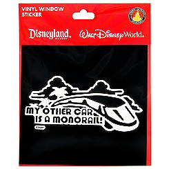 ''My Other Car is a Monorail'' Window Decal