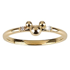 Gold and Diamond Mickey Mouse Ring