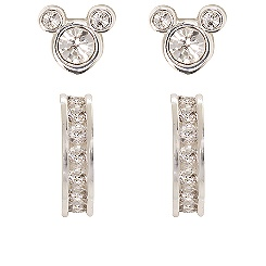 Sparkling Mickey Mouse Earring Set