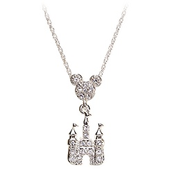 Mickey Mouse Crystal Castle Necklace