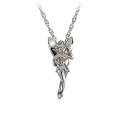 Sterling and Diamond Tinker Bell Necklace