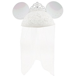 Bride Minnie Mouse Ear Hat - Personalized