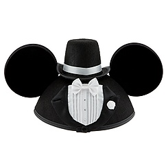 Personalizable Tuxedo Groom Mickey Mouse Ear Hat for Men