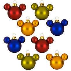Mickey Holiday Ornament Set - Mini