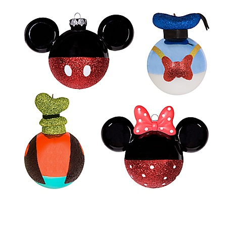 ''Best of Mickey'' Mickey Mouse and Friends Holiday Ornament Set -- 4-Pc.