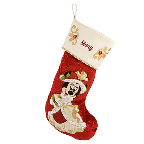 Victorian Minnie Mouse Holiday Stocking