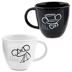 Wedding Minnie and Mickey Mouse Mugs -- 2-Pc.
