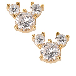 Cubic Zirconia Mickey Mouse Earrings
