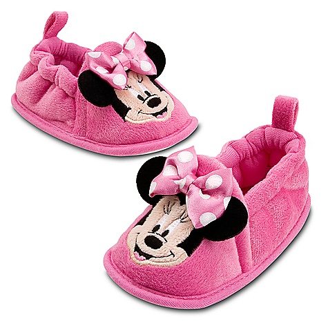 minnie mouse slippers soft shoes pink infant 0 24m