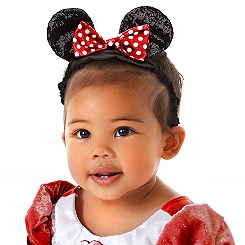 Minnie Mouse Ear Headband for Baby with Red Bow