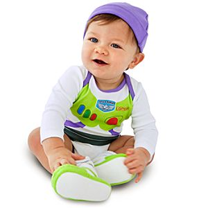 Buzz Lightyear Costume Bodysuit and Cap for Infants -- Made With Organic Cotton