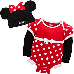 Minnie Mouse Disney Cuddly Bodysuit Set for Baby - Personalizable