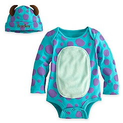 Sulley Disney Cuddly Bodysuit Set for Baby - Personalizable