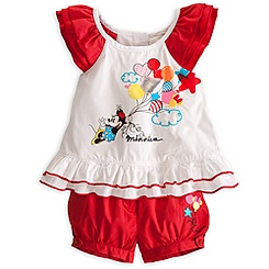 Minnie Mouse Woven Top and Shorts for Baby