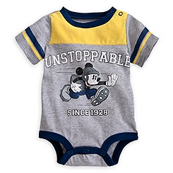 Mickey Mouse Football Jersey Disney Cuddly Bodysuit for Baby