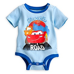 Lightning McQueen and Tow Mater Disney Cuddly Bodysuit for Baby