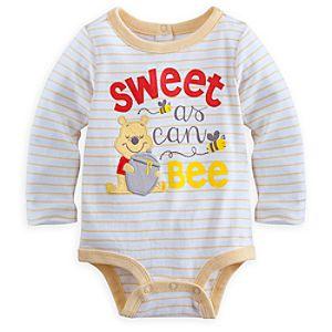Winnie the Pooh Long Sleeve Disney Cuddly Bodysuit for Baby