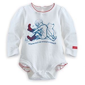 Winnie the Pooh and Christopher Robin Long Sleeve Disney Cuddly Bodysuit for Baby