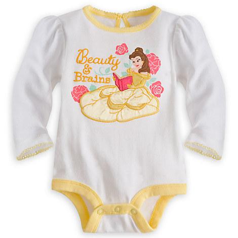 Belle Long Sleeve Disney Cuddly Bodysuit for Baby