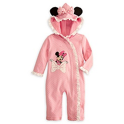 Minnie Mouse Hooded Coverall for Baby